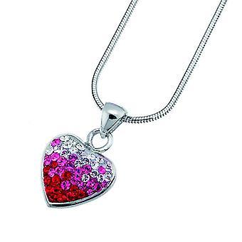 Oliver Weber Pendant Loveheart 925 AG Rhodium Crystal
