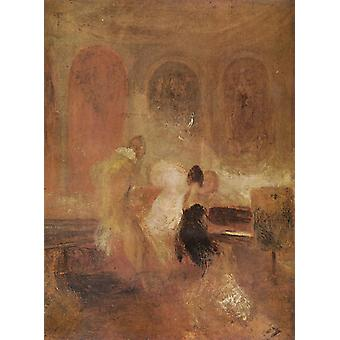 Fête de musique à Petworth, Joseph Mallord William Turner, 50x40cm