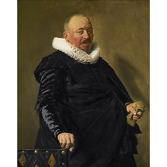 Portret van een oudere man, Anthony van Dyck, 50x40cm