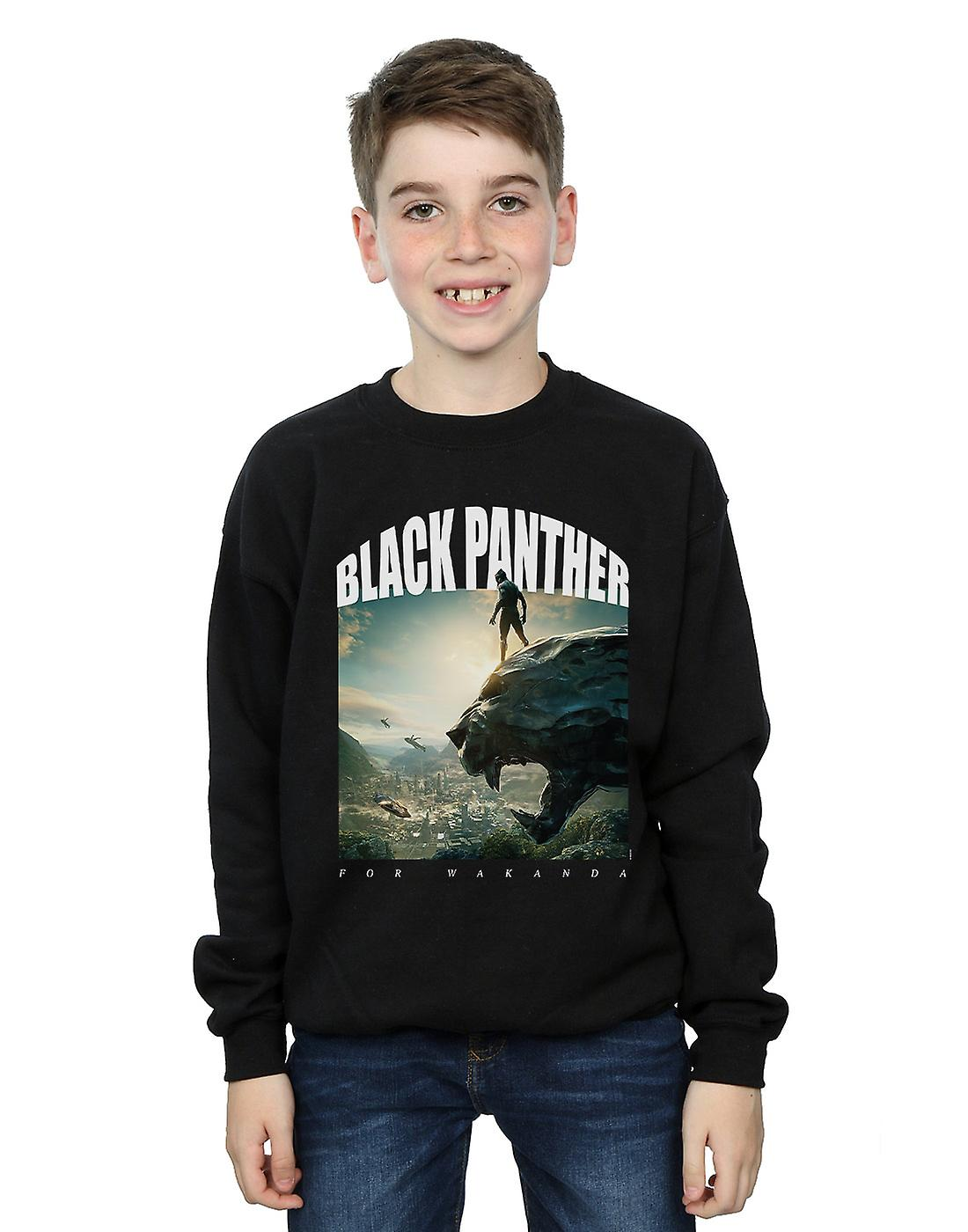 Marvel Boys Black Panther For Wakanda Sweatshirt