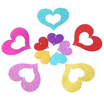 TRIXES 100PCS Pack bunte Herz Anhänger Glitter Band Ballon Dekorationen