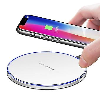 Ronde White Universal Qi Wireless Power Desktop Charging Pad /Ultra-Thin Qi Receiver Module Voor ZTE nubia Z17 lite
