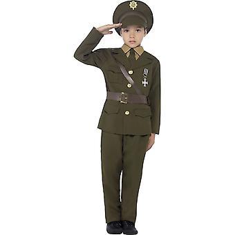 Offizier-Kostüm, Jacke mit angehängten Gürtel, mittlere Alter 7-9