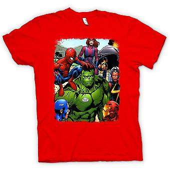 Kids t-shirt-Hulk Spiderman Iron Man
