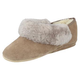 Ladies Morlands Slippers Strathmore - Mole Leather - UK Size 3 - EU Size 36 - US Size 5