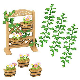 Jogo de decoração de jardim de famílias Sylvanian