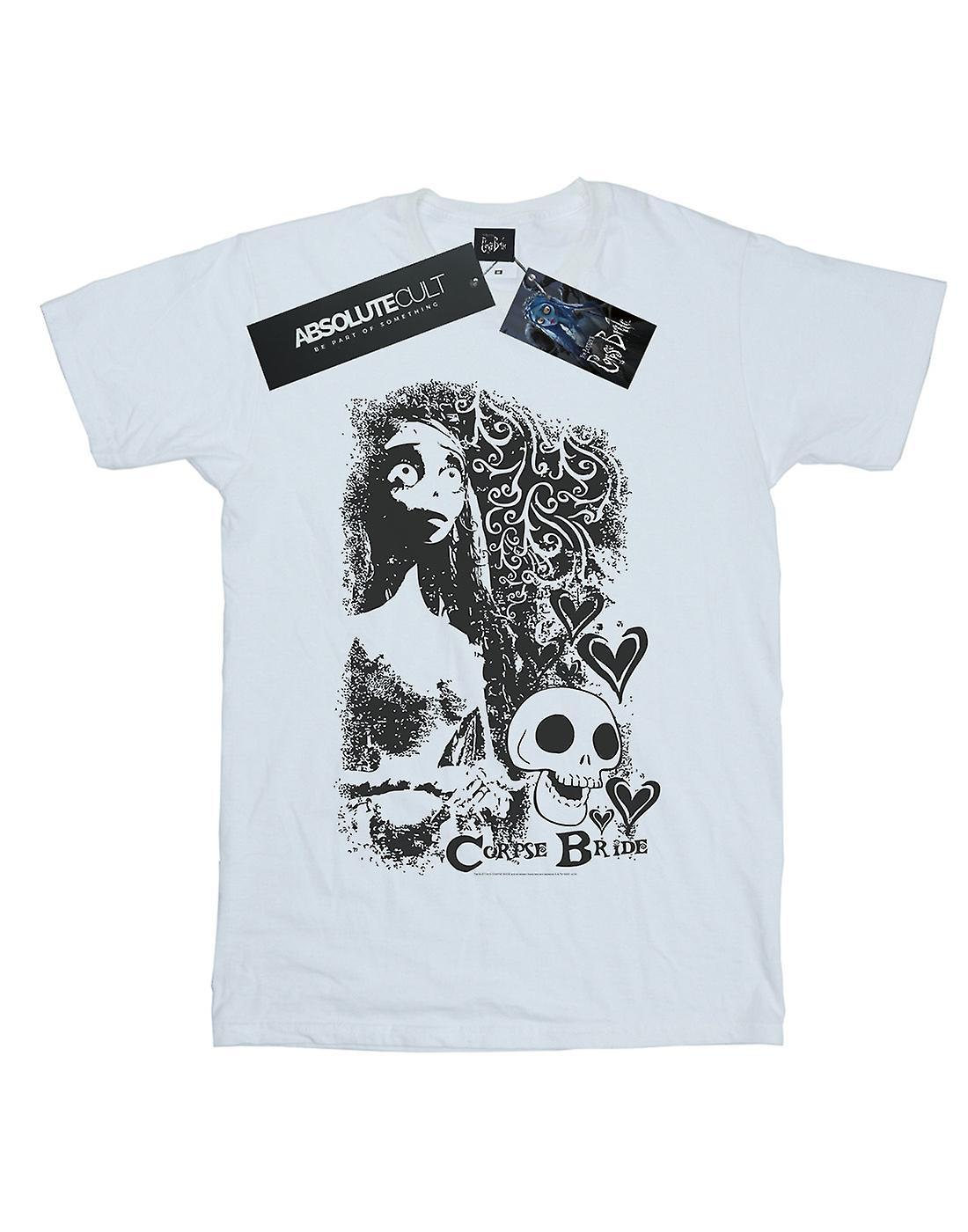 Corpse Bride Men's Skull Logo T-Shirt
