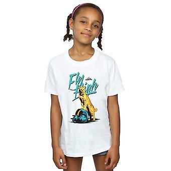 Marvel Girls Kapteeni Marvel lentää korkea t-paita