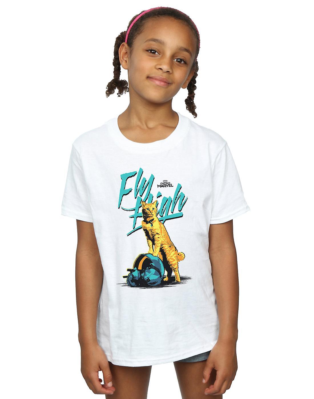 Marvel Girls Captain Marvel Fly High T-Shirt
