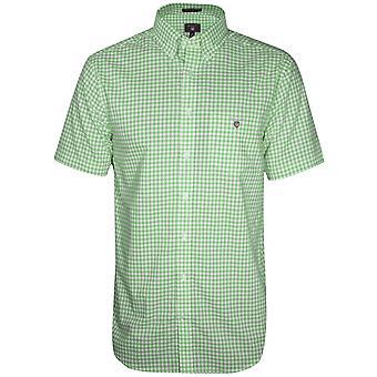 GANT Pool Green Check Regular Short-Sleeve Shirt