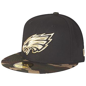 New Era 59Fifty Fitted Cap - GOLD Philadelphia Eagles camo