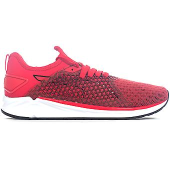 Puma Ignite 4 NetFit Mens Running Fitness Fitness Trainer Shoe Red/Black