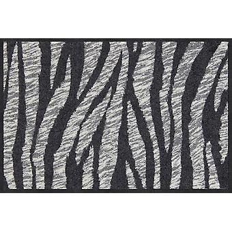 Salão leão capacho Zebra pele esteira de sujeira lavável 50 x 75 cm