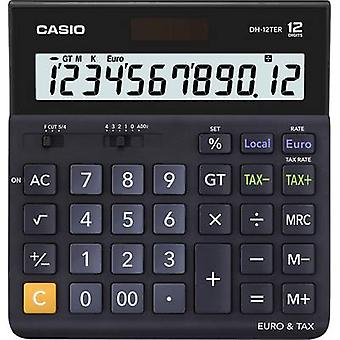 Casio DH-12TER Desk calculator Black Display (digits): 12 solar-powered, battery-powered (W x H x D) 151 x 29 x 159 mm