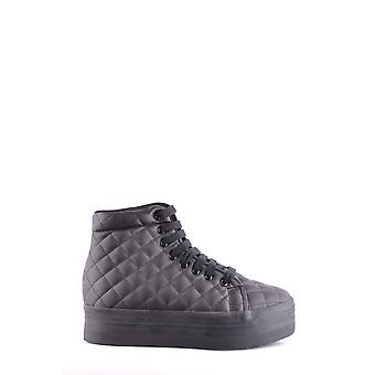 Jeffrey Campbell Ezbc132036 Women's Black Faux Leather Hi Top Sneakers