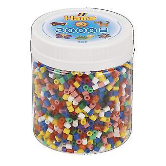 Hama 3.000 abalorios-mezcla sólida mosaico, un tamaño