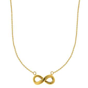 14k Yellow Gold Infinity Sign Pendant Necklace, 18