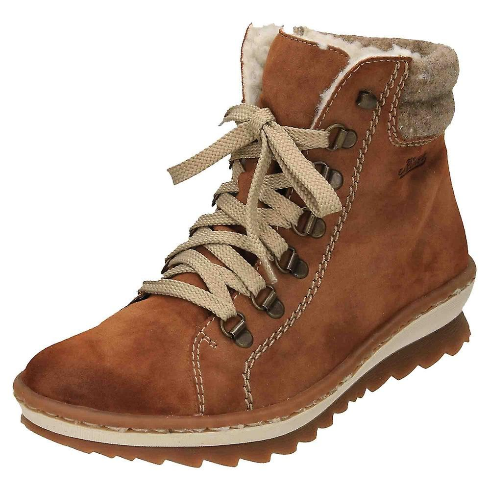 Rieker Lace Up Warm Lined Ankle Boots Z8610-24