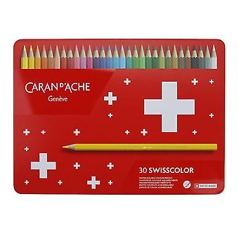 Caran D'Ache Swisscolor Water Soluble Pencils 30 Tin