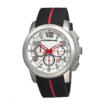 Morphic M22 Series Chronograph Men's Watch w/ Date - Silver/White