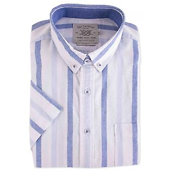 BAR HARBOUR Bar Harbour Casual Stripe Short Sleeve Shirt