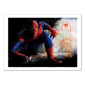 Art-Poster - Spiderman Spray Tag - Barrett Biggers 50 x 70 cm