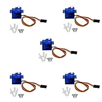 5 Pieces SG90 Servo 9G Micro Servo Motor for RC Robot Helicopter Airplane Boat Controls