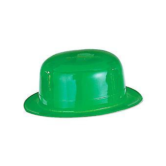 Bowler plast mössa grön