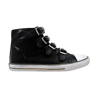 Amiana 4 Buckle Hi Black/White 15/A5172 Women's
