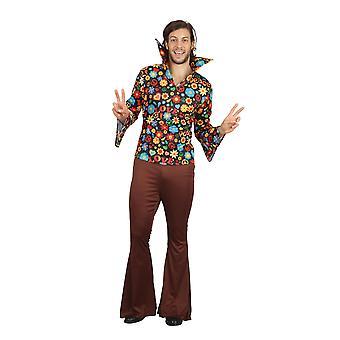 Costume hippie svasato di Bristol Novelty Mens Floral