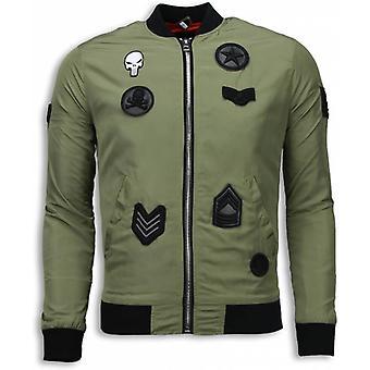 BomberJack - Bomberjack Military Skull Patches - Green
