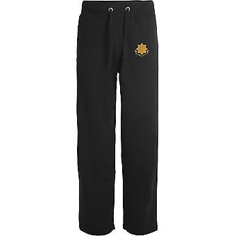 East Yorkshire Regiment - Licensed British Army Embroidered Open Hem Sweatpants / Jogging Bottoms