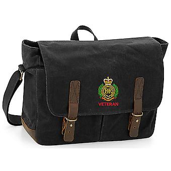 Royal Engineers Veteran - Licensed British Army Embroidered Waxed Canvas Messenger Bag