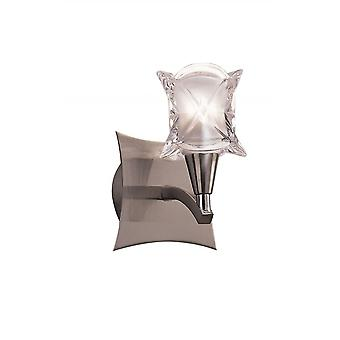 Mantra Rosa Del Desierto Wall Lamp Switched 1 Light G9, Satin Nickel