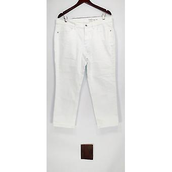 Denim & Co. kvinder ' s Petite jeans Studio klassisk denim hvid A304477
