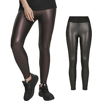 Urban Classics damer-høj talje læder leggings