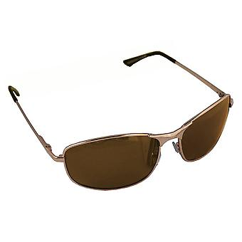 Men's Sunglasses Polaroid Rectangular - Gold/Brown with free brillenkokerS304_6