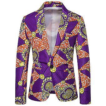 Allthemen Men's Floral Suit Jacke One-Button Casual Blazer