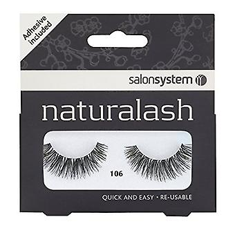 Salon System Naturalash Volume Strip Eyelashes - Black - 106