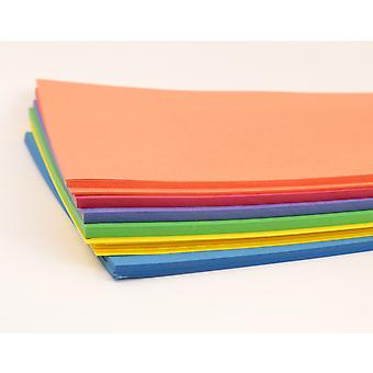 100 Assorted Coloured A4 Card Sheets for Kids Crafts | Coloured Card for Crafts