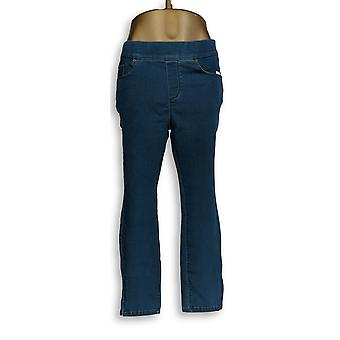 Martha Stewart Women's Petite Jeans 14 Knit Denim Ankle Jeans Blue A351437