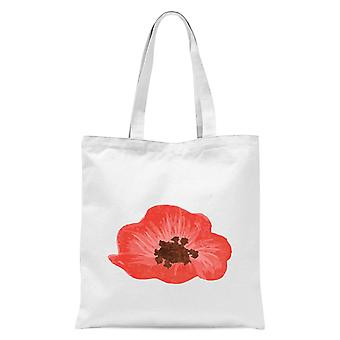 Poppy tote bag-hvit