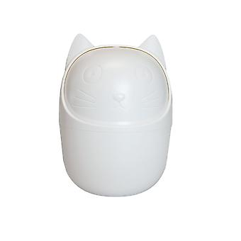 Desktop container, cat-white