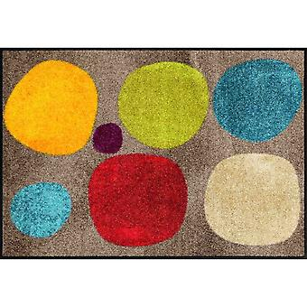 Salon lion foot mat washable broken dots colourful dirt trapping pad 50 x 75 cm