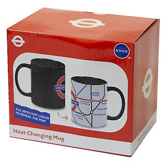 Licensed official tfl heat changing london underground™ tube map mug