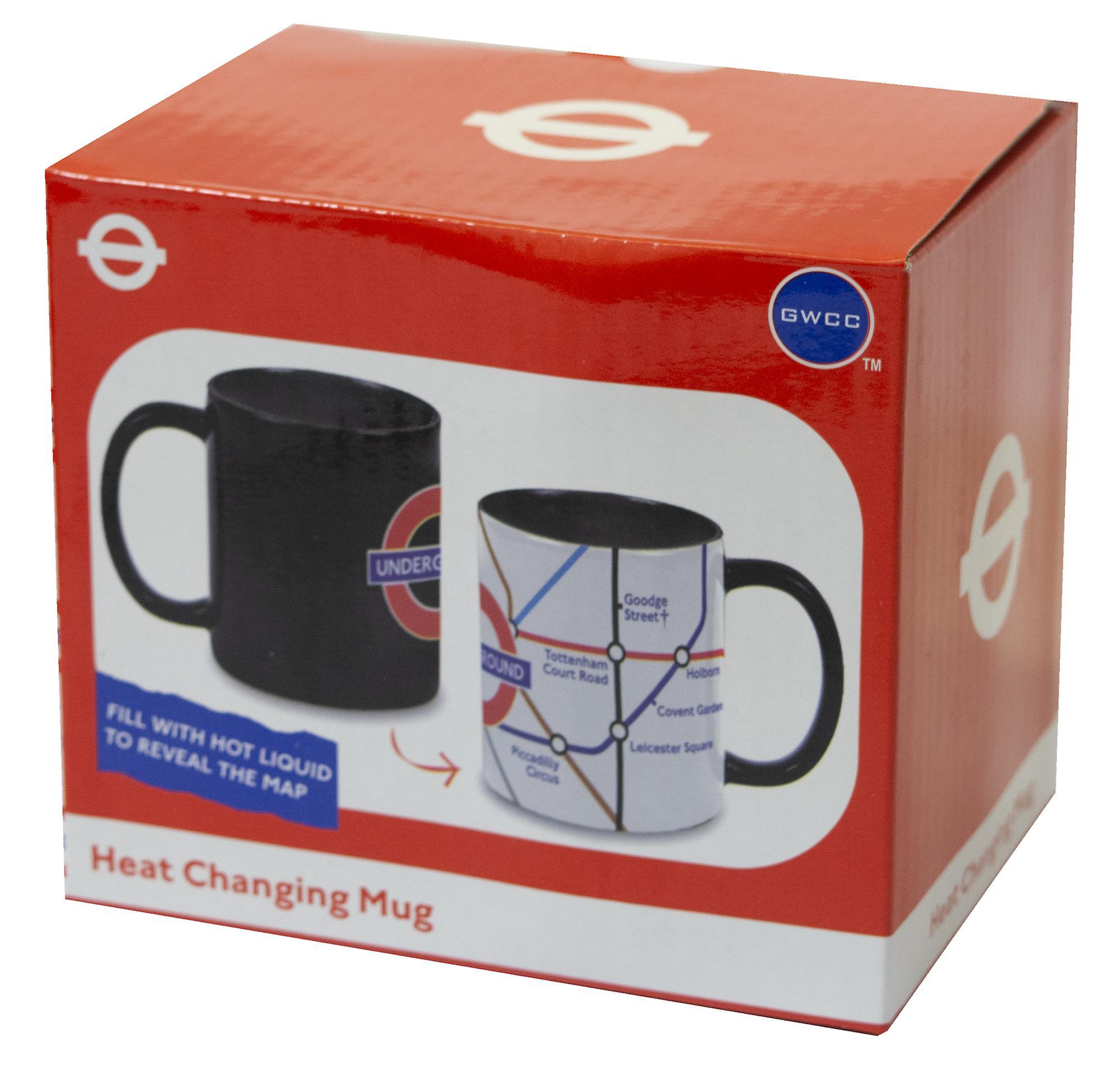 Licensed official tfl heat changing london underground™ tube map mug