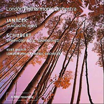 Schubert/Janacek-Schubert: Sinfonia n º 8; Jan CEK: glagolitic Mass [CD] EUA importação