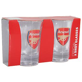 Arsenal FC Official Football Crest Shot Glass (Pack Of 2)