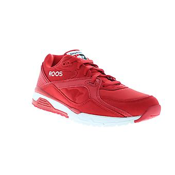 Roos Runaway  Mens Red Nylon Lace Up Low Top Sneakers Shoes