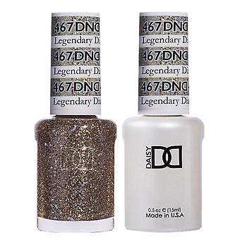 Dnd Duo Gel & Nail Polish Set - Legendary Diamond 467 - 2x15ml